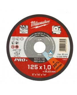 Tarcza do cięcia metalu fi 125x1 mm PRO+ MILWAUKEE 4932451487