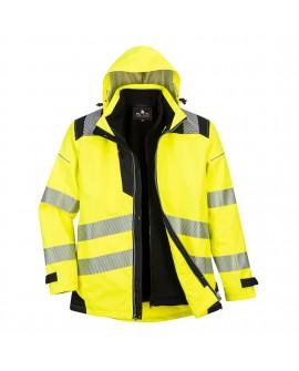 Wodoodporna i oddychająca Kurtka 3w1 PW365 żółto - czarna  Portwest