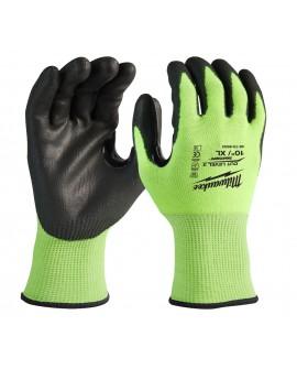 Rękawice robocze antyprzecięciowe odblaskowe HI-VIS MILWAUKEE