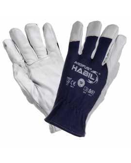 Rękawice robocze ochronne z koziej skóry HABIL