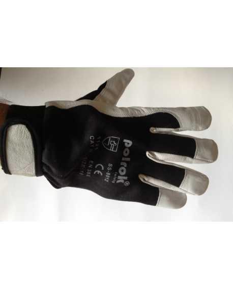 Rękawice skórzane kozie z rzepem Polrok SS-8012