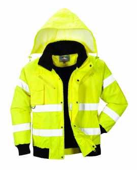 Zimowa kurtka robocza ostrzegawcza  BOMBER 3W1 - C467 PORTWEST ŻÓŁTA