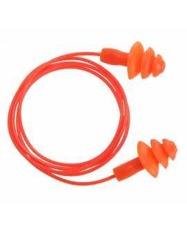 Zatyczki z TPE wielokrotnego użytku ze sznurkiem (50 par) PORTWEST