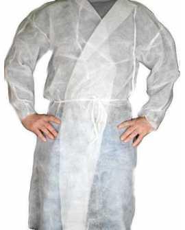 Odzież jednorazowa fartuch laboratoryjny 10 szt