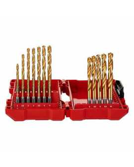 ZESTAW WIERTEŁ SHOCKWAVE HSS-G TIN RED HEX MILWAUKEE - 19 ELEMENTÓW 48894760