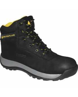 Delta plus skórzane zimowe buty robocze Saga S3 SRC czarne