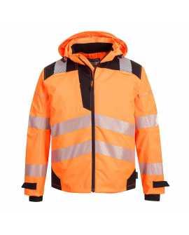Wodoodporna i oddychająca Kurtka PW360 pomarańczowo - czarna Portwest